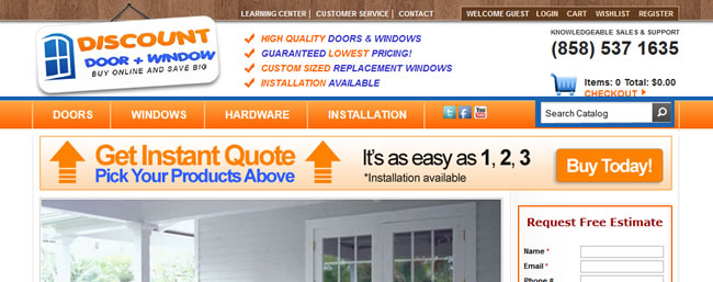 Discount Door and Window Website