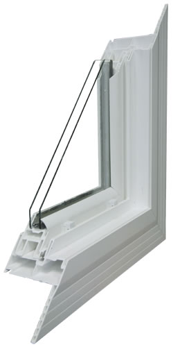 Energy Efficient Vinyl Window Cut Away