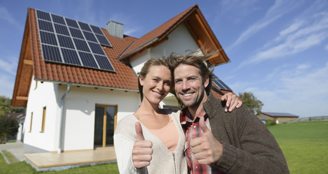 home owners with solar panels